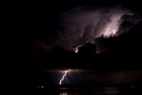 Lightning from Thunderstorms over Copper Harbor, MI (July 4, 2011)