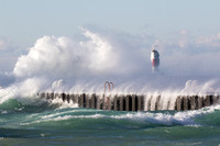 Frankfort MI Breakwaters, Lake Michigan
